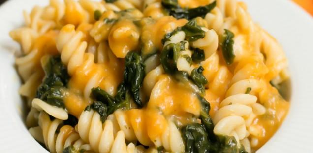 ESZTERSÉGES RECEPTEK: Sütőtökkrémes /édesburgonyás spenótos tészta