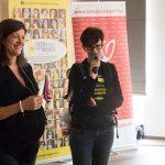 Forró Csilla és Salamon Adrienn a Női Egészségért Alapítványtól (balról jobbra)