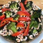 Garnélás-zöldséges quiche recept